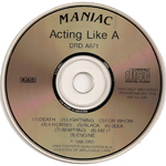 ACTING LIKE A MANIAC (DRD) (RED LETTERS)